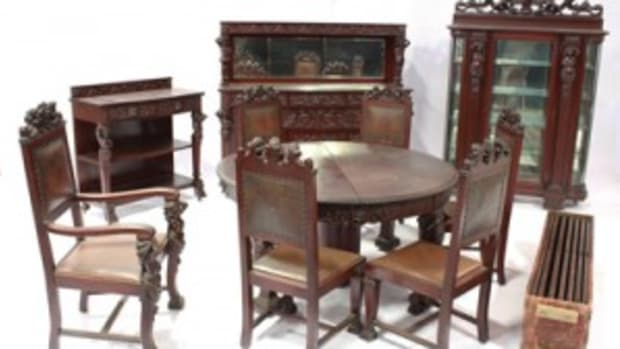 Multi-piece 20th century R.J. Horner dining room set expected to vie for top lot during the Jan. 1 auction. Photo courtesy Ross Auction