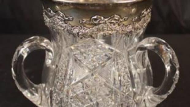 Cut glass loving cup