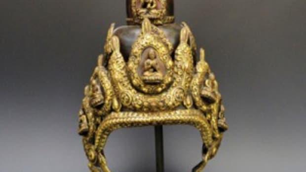 Tibetan ceremonial helmet