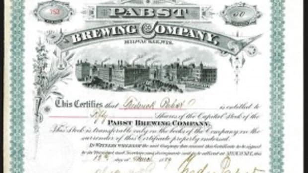 Pabst Brewing stock