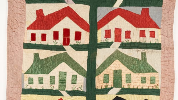 A Southern African-American quilt, attributed to Margaret or Lema Carr of Rogersville, Tennessee, that recently exhibited at Colonial Williamsburg sold for $5,280 - more than double its pre-sale estimate of $2,000-$2,400.