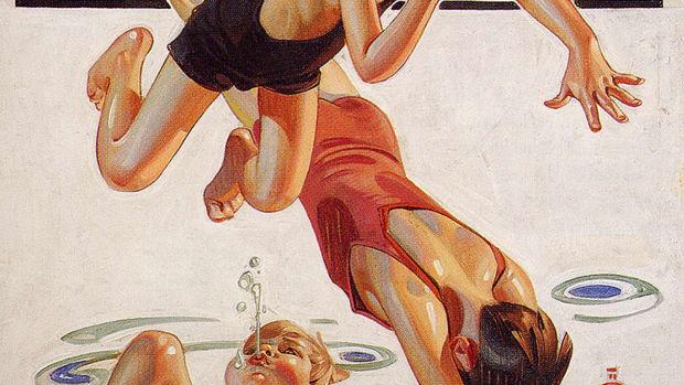 Pool by J. C. Leyendecker, 1935.