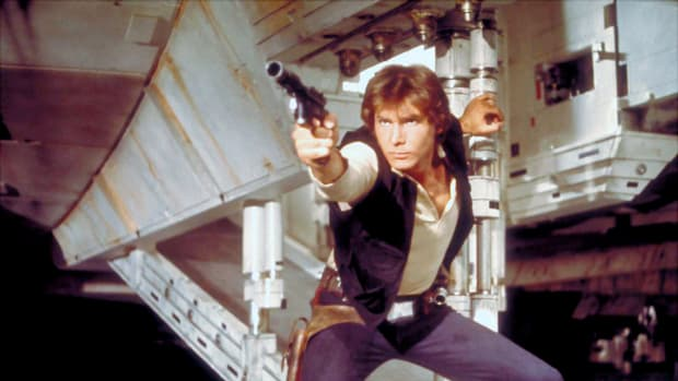 American actor Harrison Ford as Hans Solo.