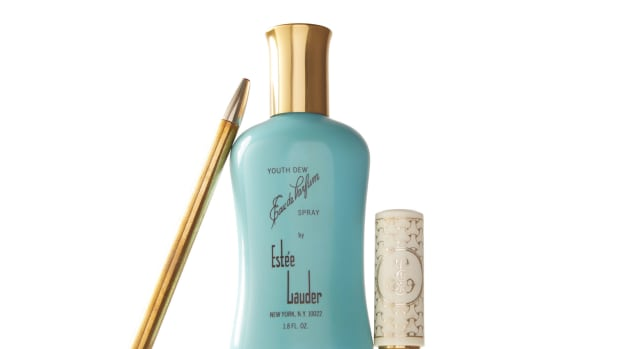 Toward the end of the 1950s, Estee Lauder came onto the beauty industry scene, getting on the map in particular with the launch  of her fragrance, Youth Dew.