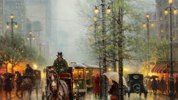 Carriages on Canal St., New Orleans