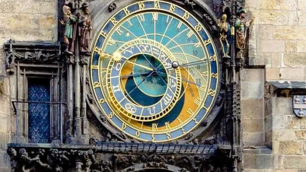 The impressive Orloj in Prague's Old Town Square.