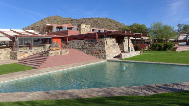 Frank Lloyd Wright's Taliesin West in Scottsdale, Arizona.