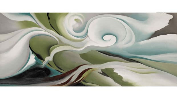 O'Keeffe's painting, Nature Forms ~ Gaspé, sold at Sotheby's for $6.9 million.