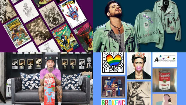 eBay's Charity Shop has teamed up with Nyjah Huston, Adam Lambert, Jim Lee, and more on exclusive charity auctions for fans.