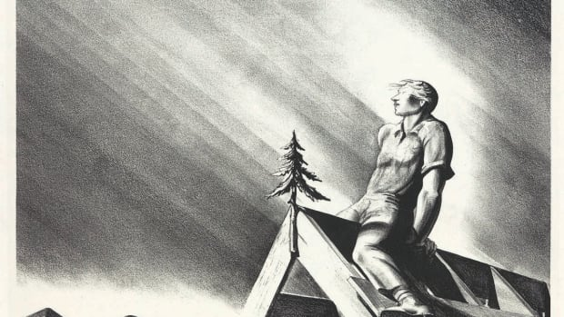 """Roof Tree,"" lithograph, 1928, by Rockwell Kent"