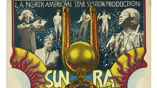 "Sun Ra in ""Space is the Place,"" circa 1974; sold for $6,500, a record for the poster."