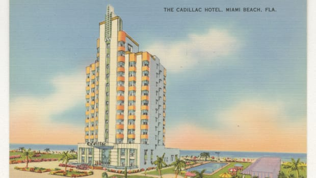 The Cadillac Hotel, Miami Beach, Florida.