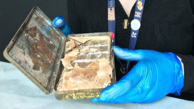National Trust conservators found the chocolate bar in the attic at Oxburgh Hall, near Swaffham.
