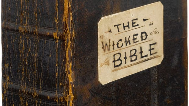 This copy of the bible sold at Sotheby's in 2016 for $47,500.