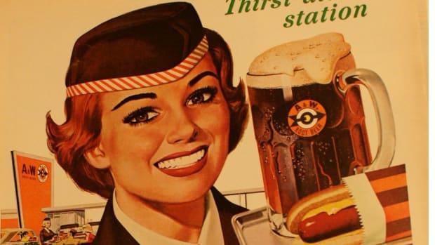 vintage A&W Root Beer advertisement