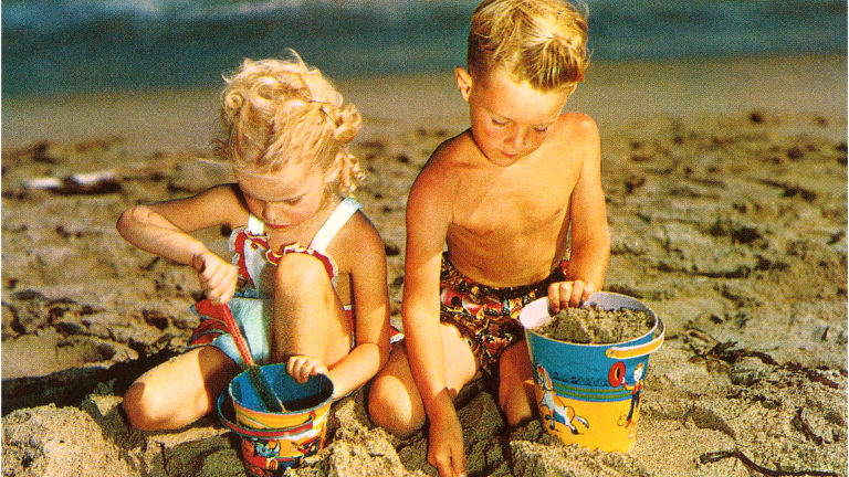 Vintage Sand Pails Buckets of Fun