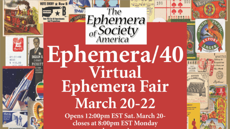 Ephemera Society of America Hosting Fair