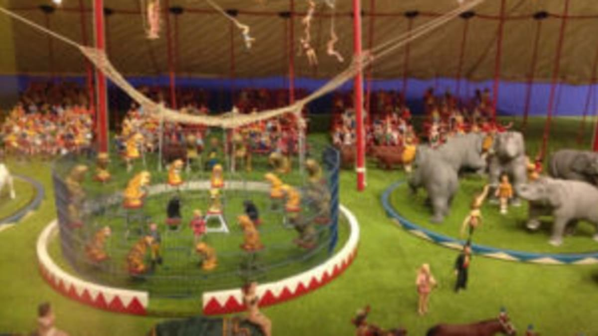 Hand Crafted Miniature Circus Needs Home Antique Trader