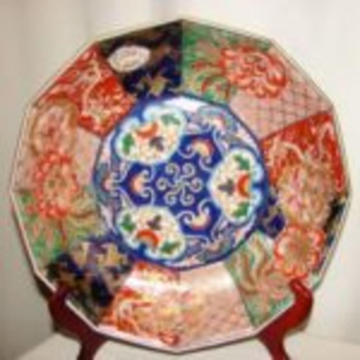 CHINESE OLD MARKED UNDERGLAZE BLUE AND RED FLOWERS PATTERN PORCELAIN PLATE