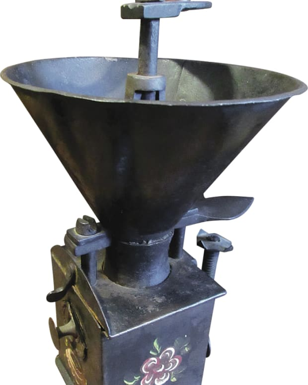 After emailing a coffee mill club in Europe, Lewis found out that the  coffee grinder he recently bought is a German grinder from the late 1700s.