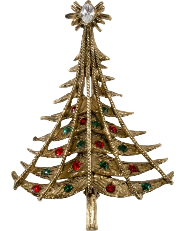 Pell Christmas tree pin