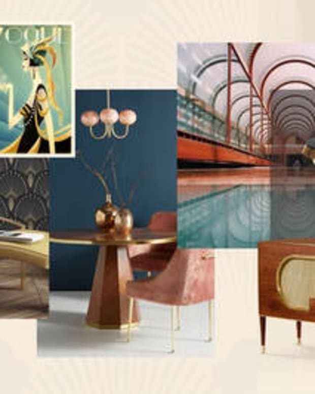Art Deco was a big trend in 2020.