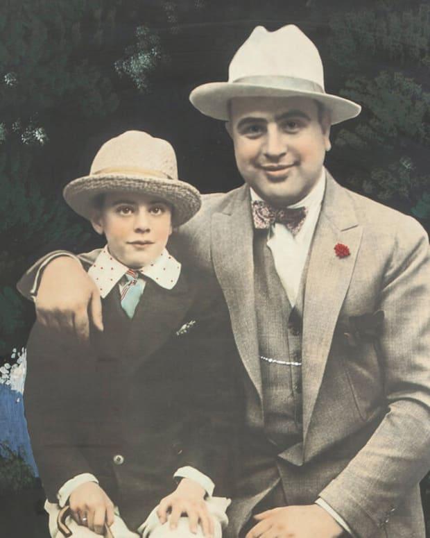 Al Capone with son