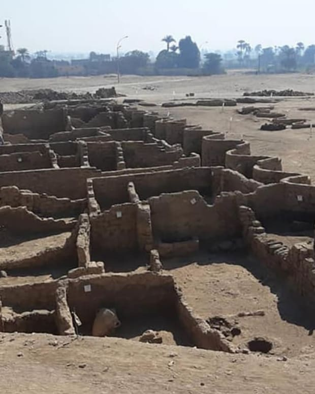 """The Rise of Aten"" is the largest ancient city ever discovered in Egypt. The walls of the city are well preserved, allowing archaeologists to see where its different districts were located."