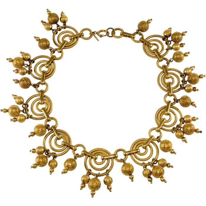 Monet Jewelers gold-plated necklace, c. 1939.