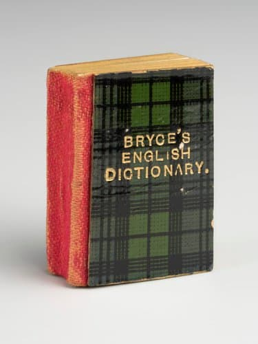 """This is the smallest English dictionary in the world, c. 1922; 1"""" x 1/2""""."""