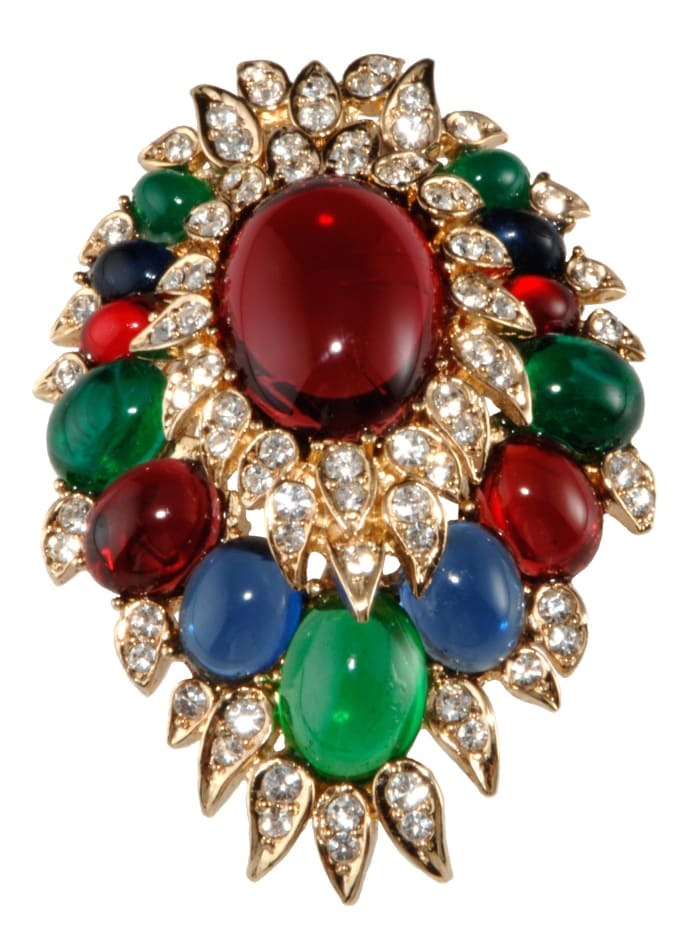 Ciner Moghul style brooch