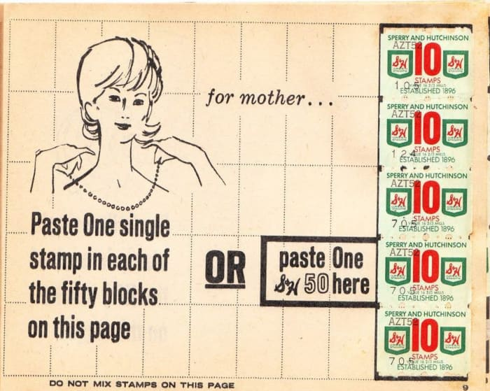 Perfect for Mother's Day: Fill in all 50 squares with your stamps in this 1975 booklet  and you could get a pretty necklace for mom.