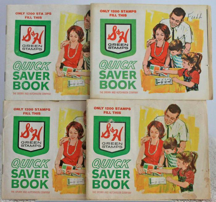 eBay seller mrneverending offered four stamp books for sale at $12 each.