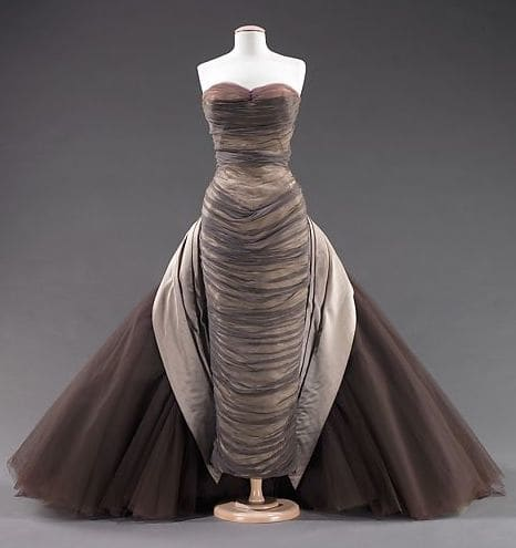 Charles James' Butterfly gown, 1955, silk chiffon, silk faille, DuPont nylon tulle.