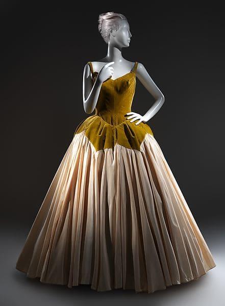 The silk and velvet Petal ball gown.