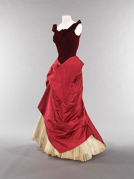 Charles James' silk and cotton evening gown, 1949-1950.