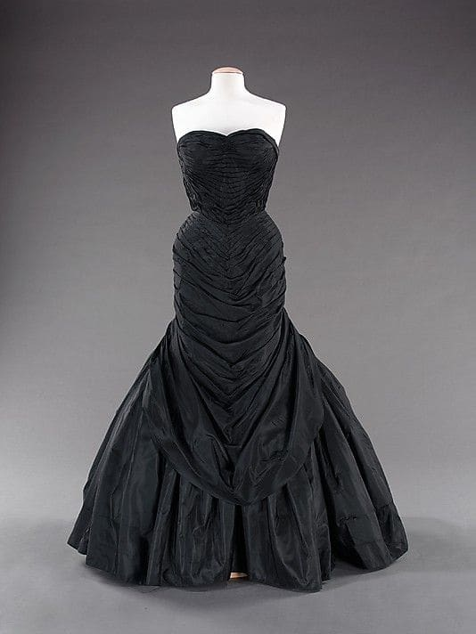 A black version of the Tree gown also in the collection of the Metropolitan Museum of Art.