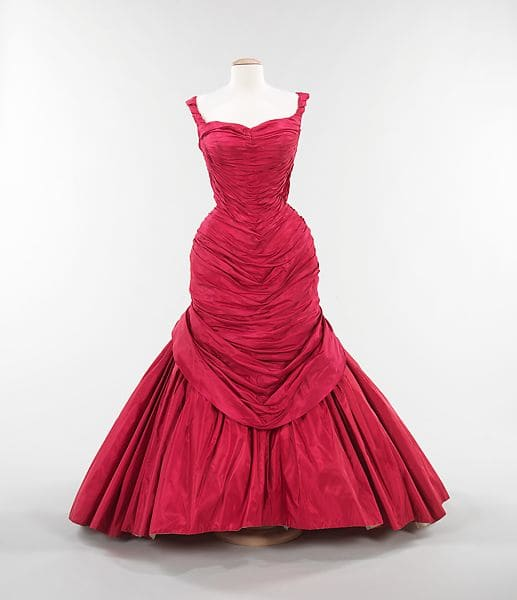 A red, pink and white tulle version of the Tree gown in the collection of the Metropolitan Museum of Art.
