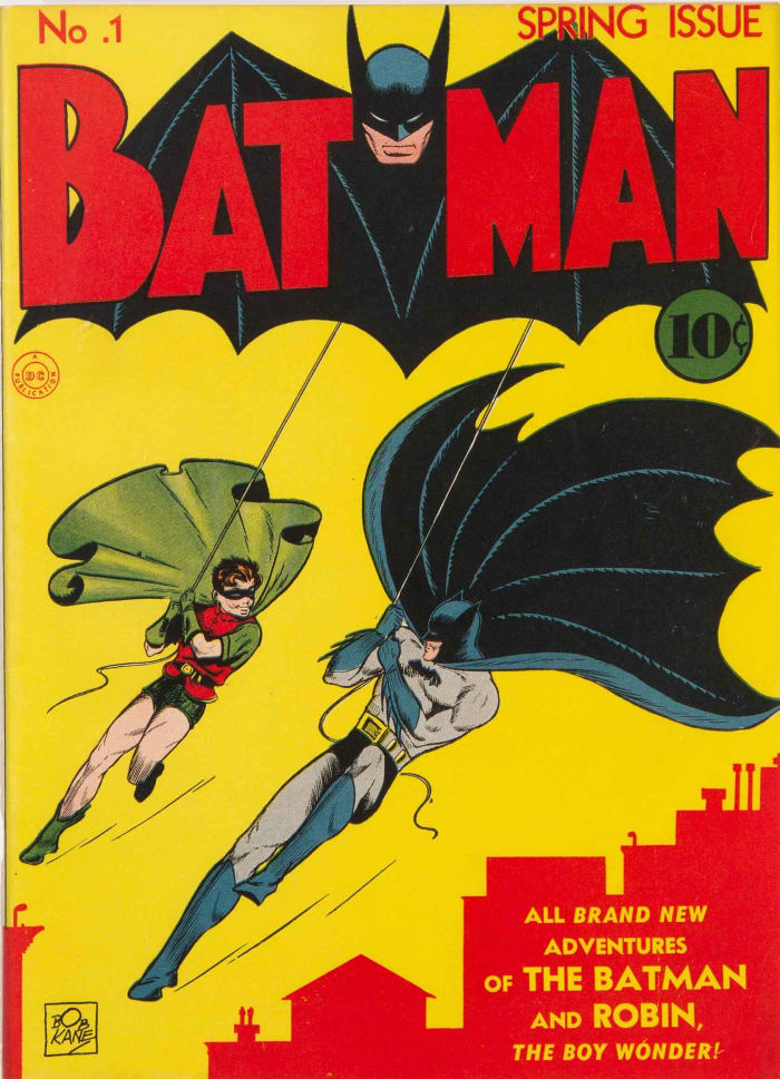 Batman #1, CGC-graded 9.4, sold for $2.2 million.