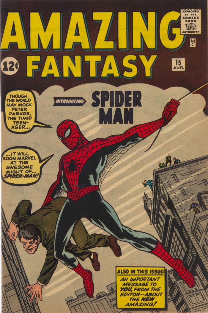 Amazing Fantasy #15 (Marvel, 1962) CGC NM+ 9.6, is now the most expensive comic book in the world, after selling for a record $3.6 million.
