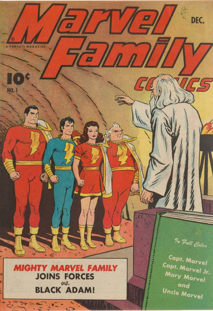 The Marvel Family #1 from The Promise Collection, CGC Pedigree Graded 9.4, blew away pre-sale estimates to sell for $186,000.