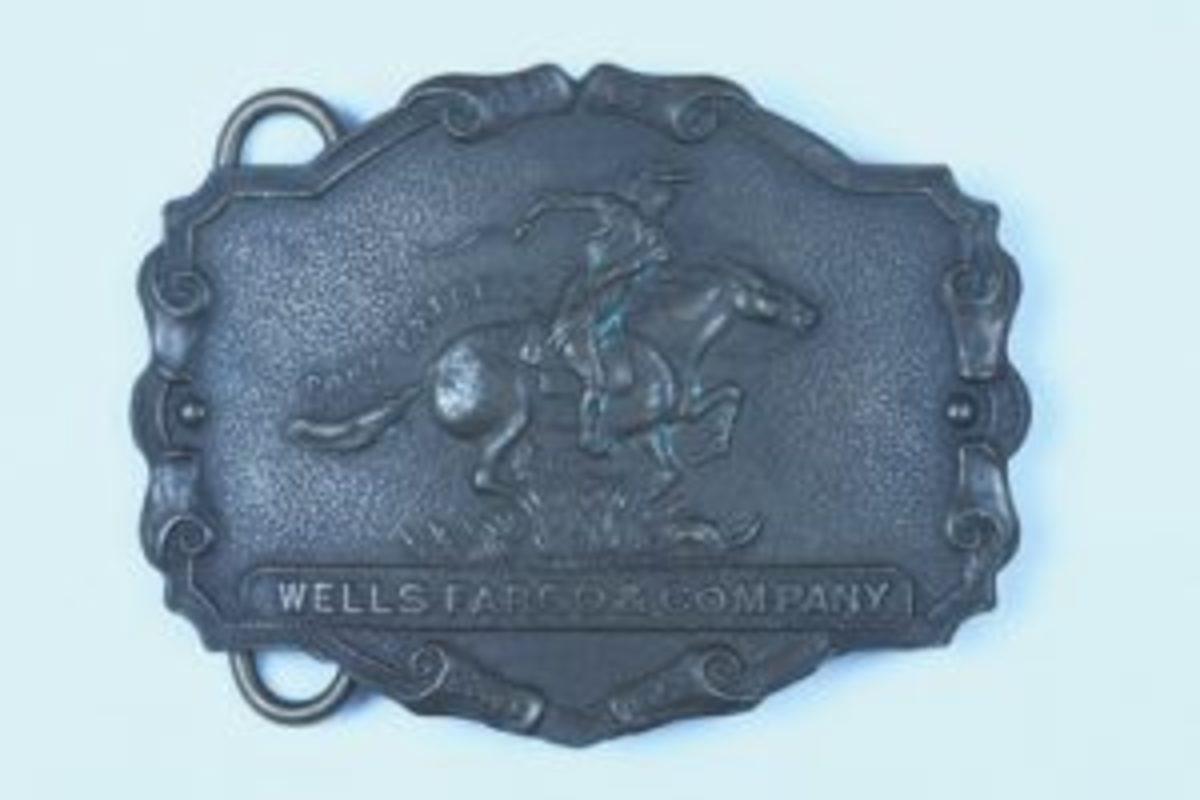Wells Fargo belt buckle
