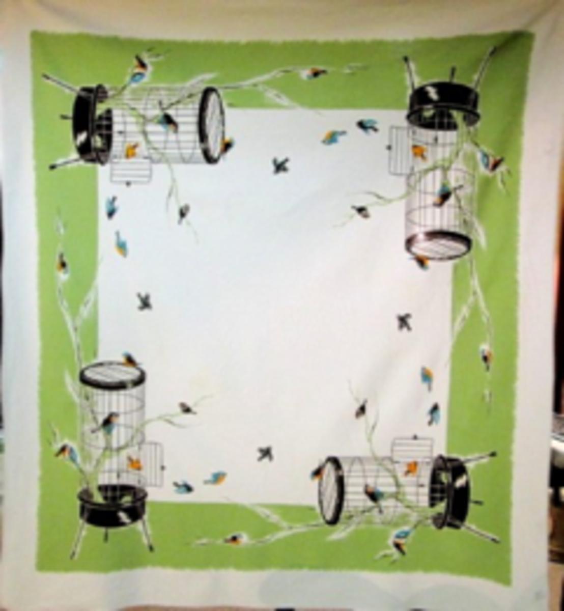 Bird Cage tablecloth