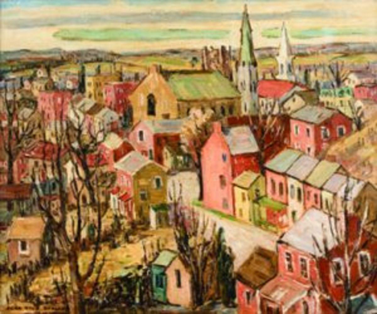 """New Jersey Town"" Sara Kolb Danner"