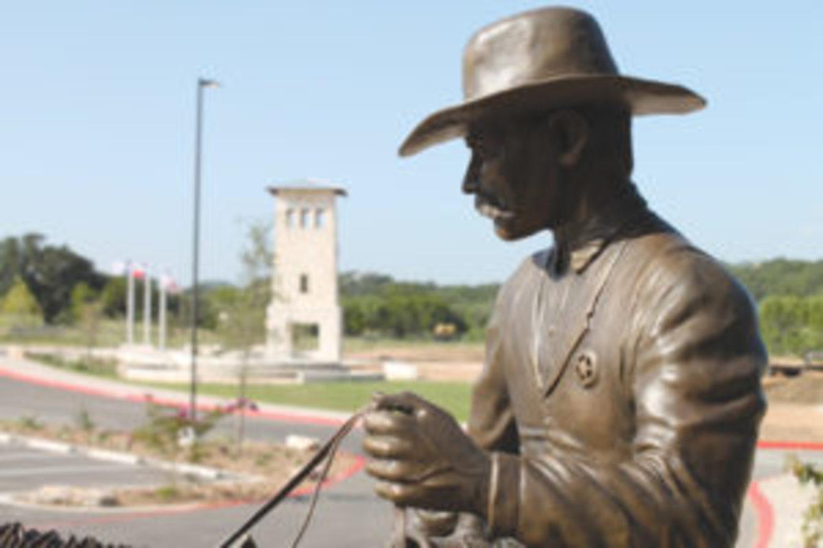 Texas Ranger bronze statue figure