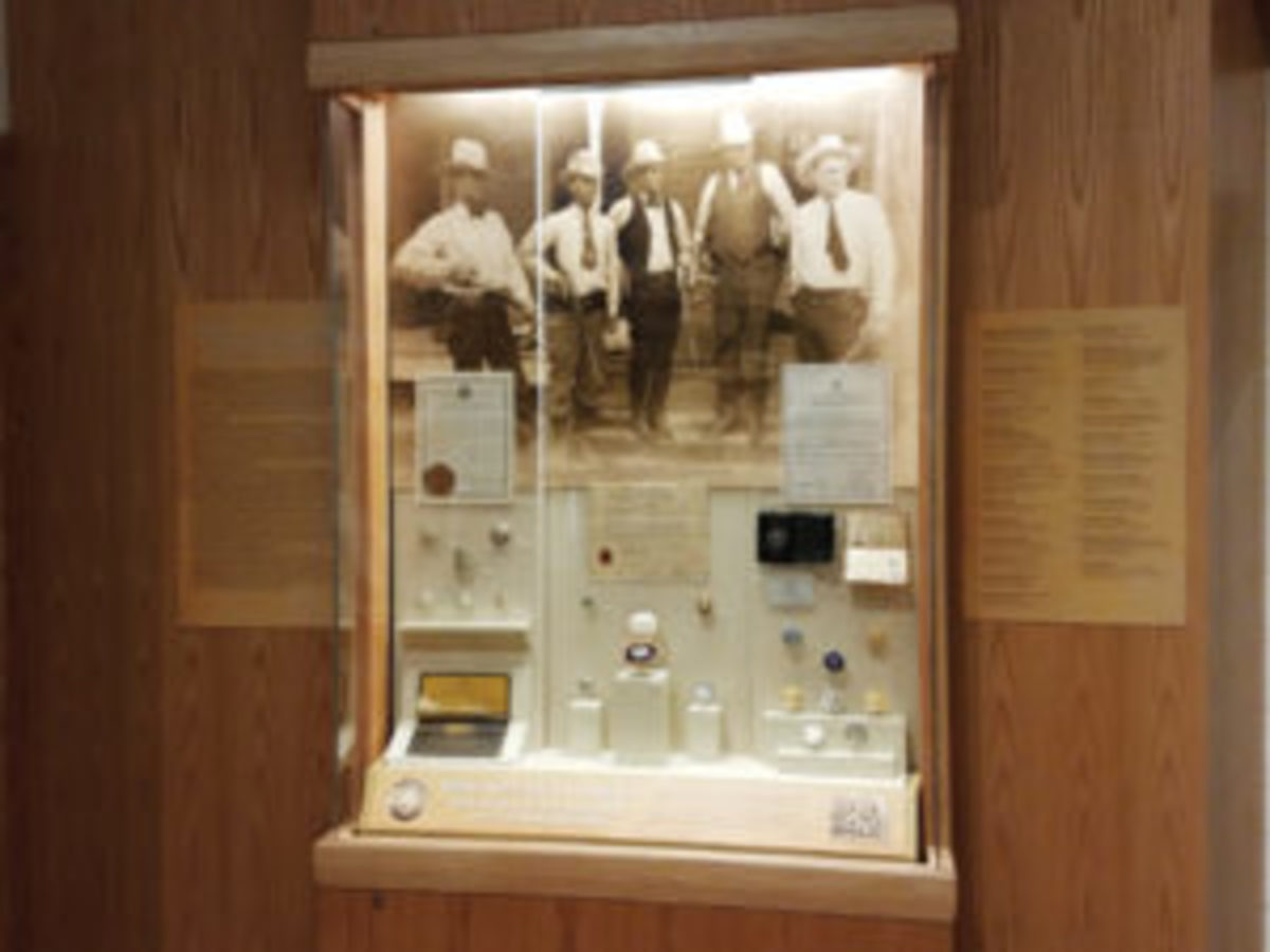 Texas Ranger Hall of Fame badges case