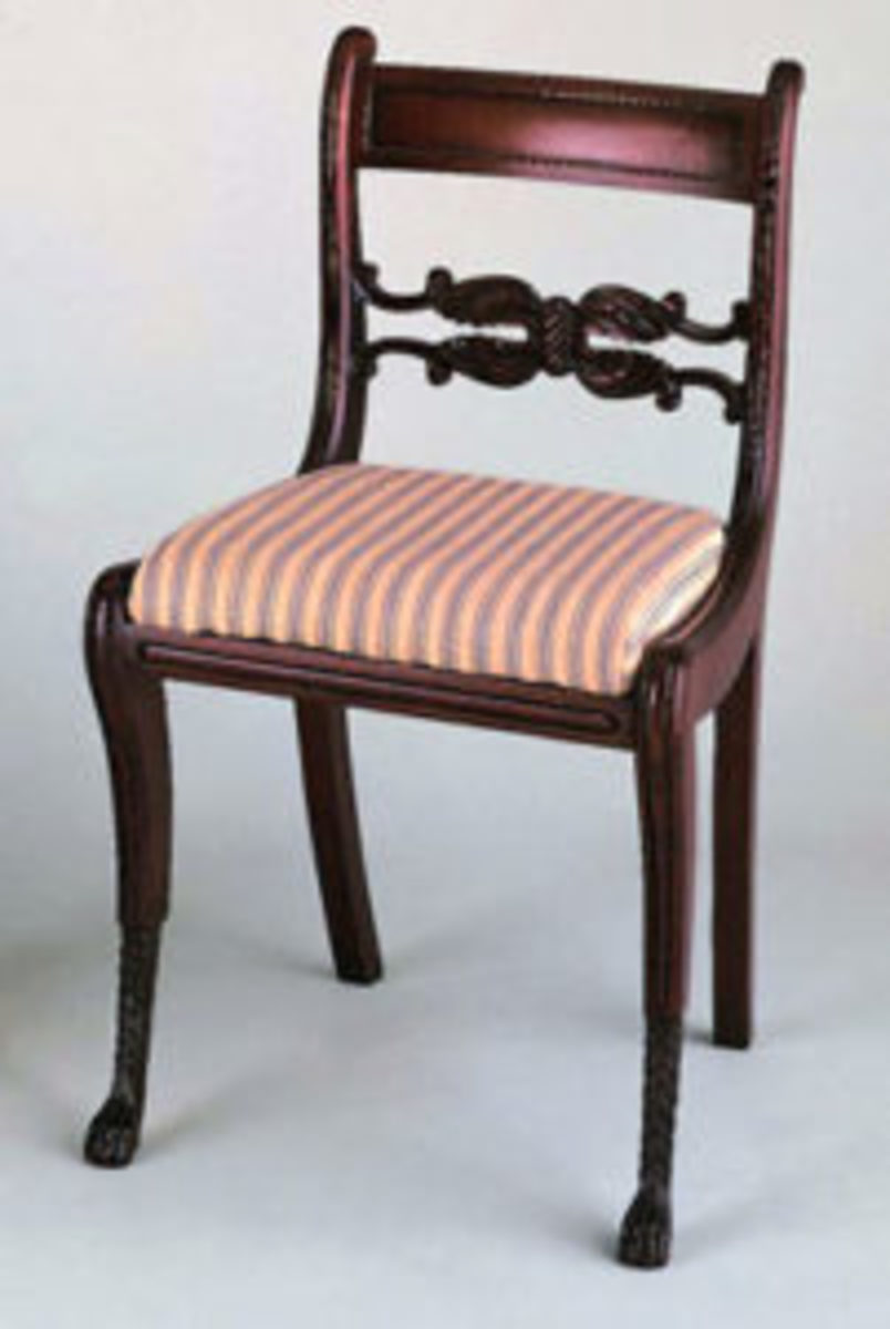 This is the genuine Duncan Phyfe chair that most can never acquire. This chair is in the Museum of Arts & Sciences in Daytona Beach, Florida.