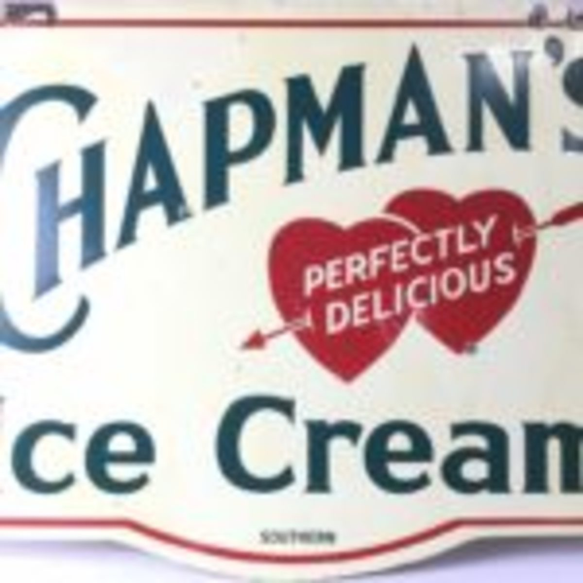 "Chapman's Perfectly Delicious Ice Cream. Measures Approximately 28"" X 36"" All images courtesy of EJ's Auctions"