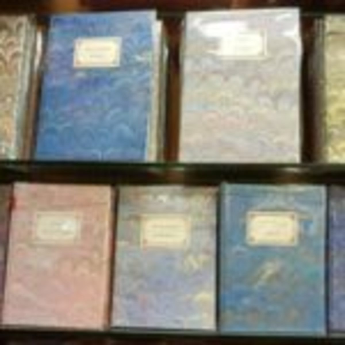 Selection of Il Papiro marbled albums