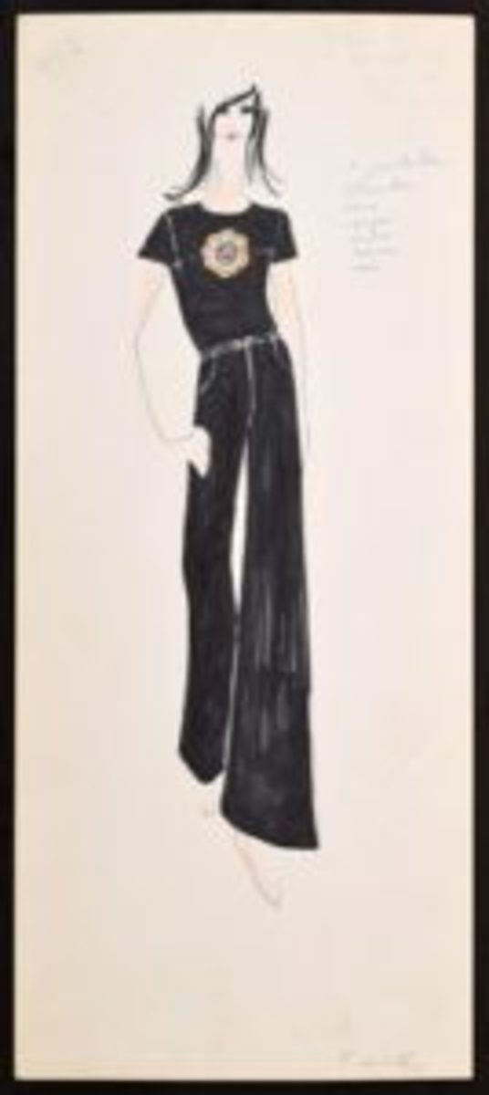 Karl Lagerfeld Fashion Drawings Sell At Auction Antique Trader